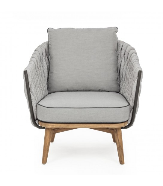 Xenia Armchair in synthetic and wood
