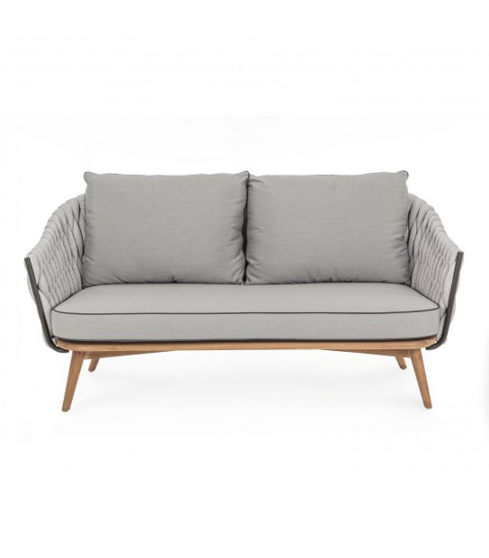 Xenia Sofa 2/3 seats in synthetic and wood