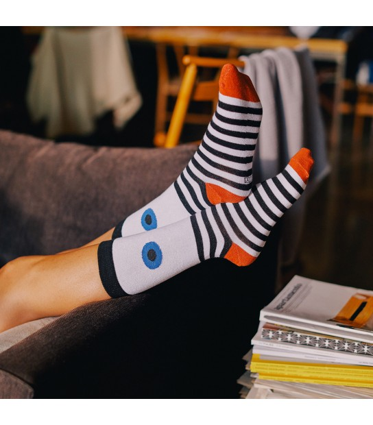 Eye socks blue