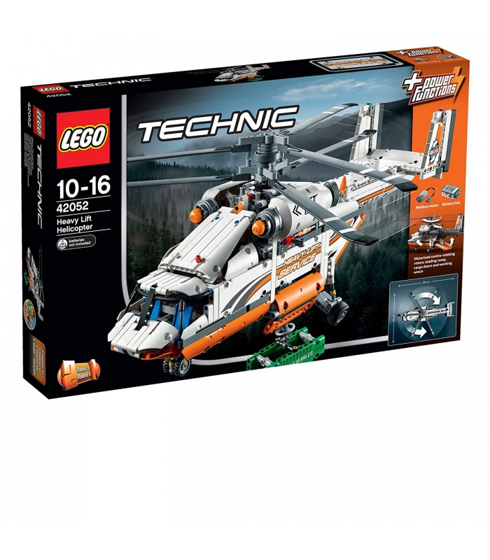 LEGO 42052 Technic Heavy Lift Helicopter Building Toy - Maduzzi