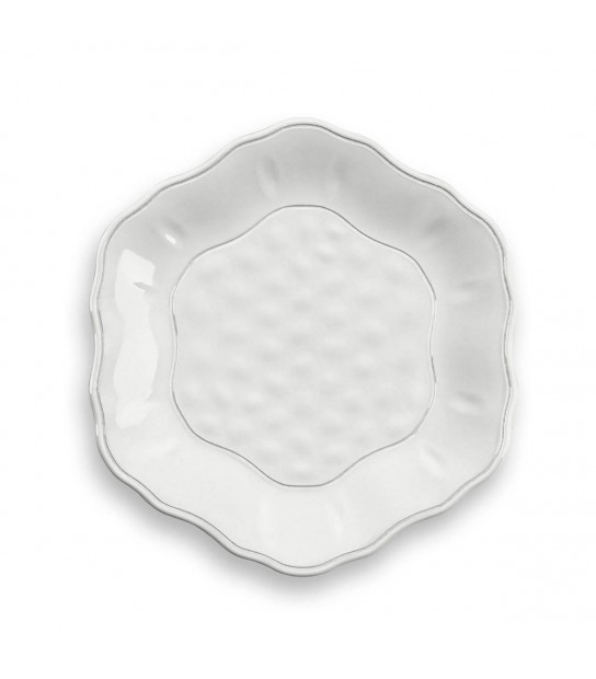 Set 4 pcs White Dessert plates York in Melamine