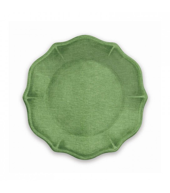 Set 4 pcs Green Dessert plates York in Melamine