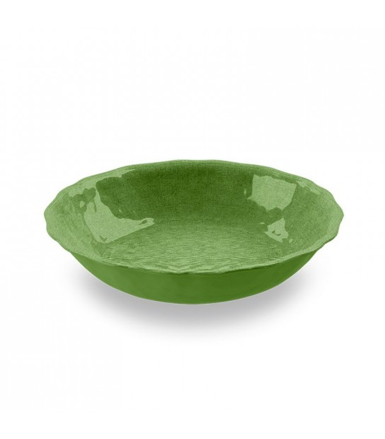 Green Salad Bowl York in Melamine 35 x 7 cm.