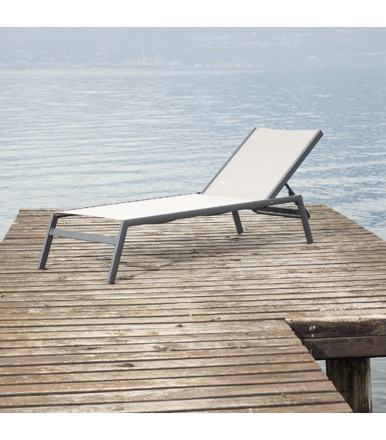 Aluminium Stackable sun Lounge Ocean