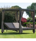 Aluminium Double Sun lounge Dream Iin Dark grey color