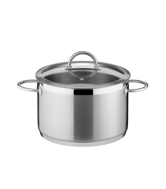 Vision Pan in stainless Steel cm. 24 with lid