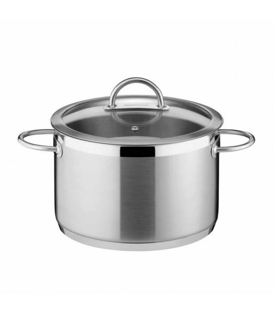 Vision Pan in stainless Steel cm. 28with lid