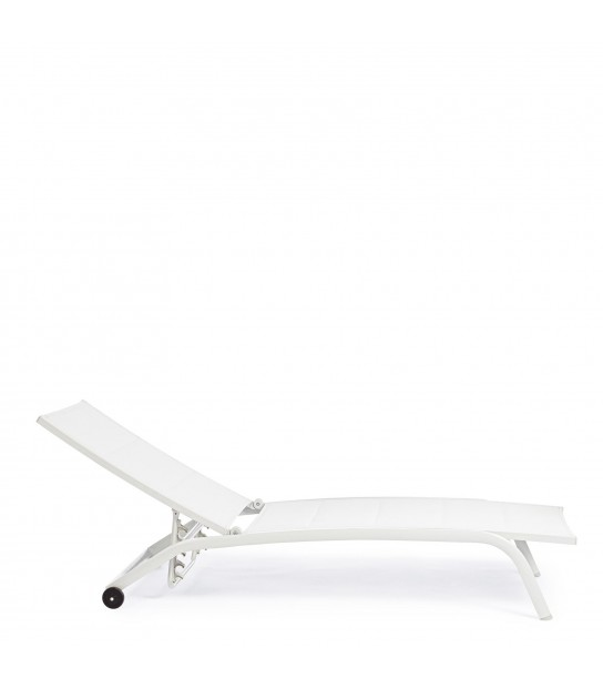 Sunbed White Cleopas with wheel