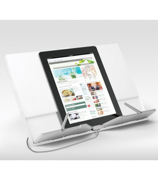 CookBook Compact folding bookstand White for tablet