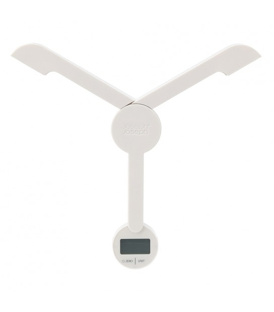 TriScale™ Compact folding digital scale White open