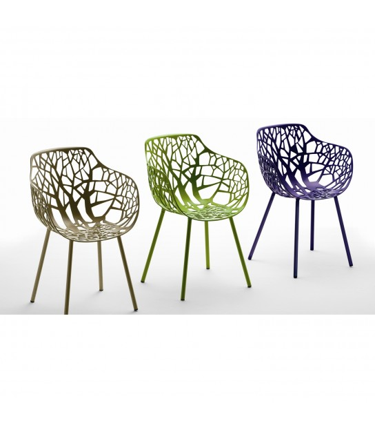 Forest Chair with Arms in Aluminium 3 colors