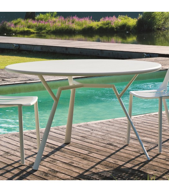 Aluminium Round Table Radice Quadra