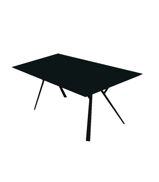 Aluminium Rectangular Table Radice Quadra 150x90 black