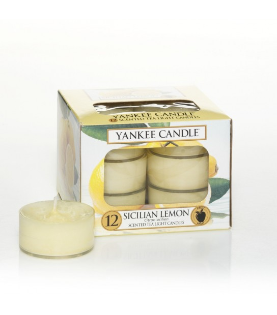 Scented Tea Light (12) Sicilian Lemon di Yankee Candle