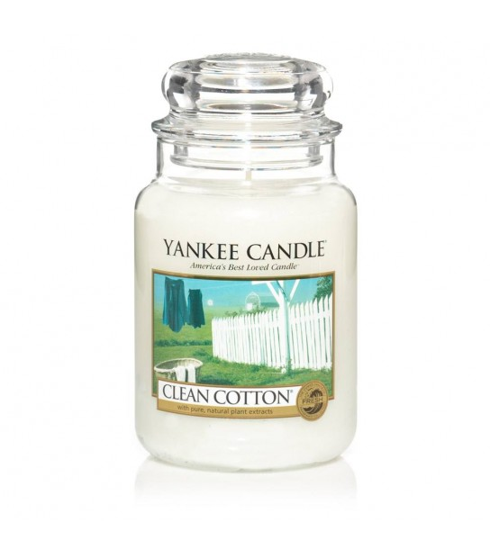 Large Jar Yankee Candle Clean Cotton
