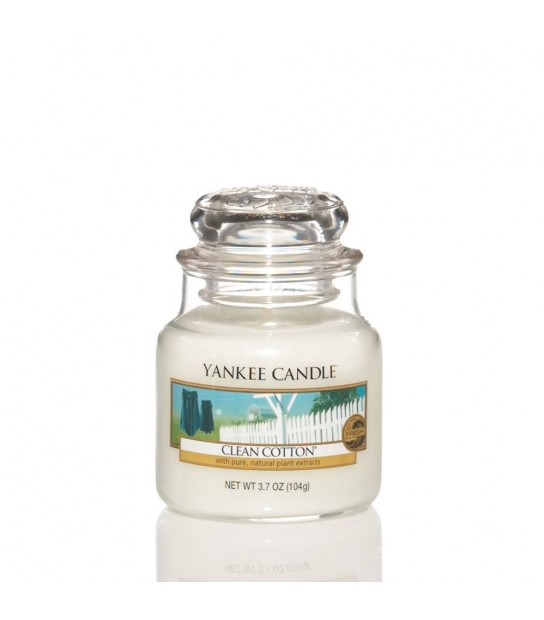 Small Jar Yankee Candle Clean Cotton