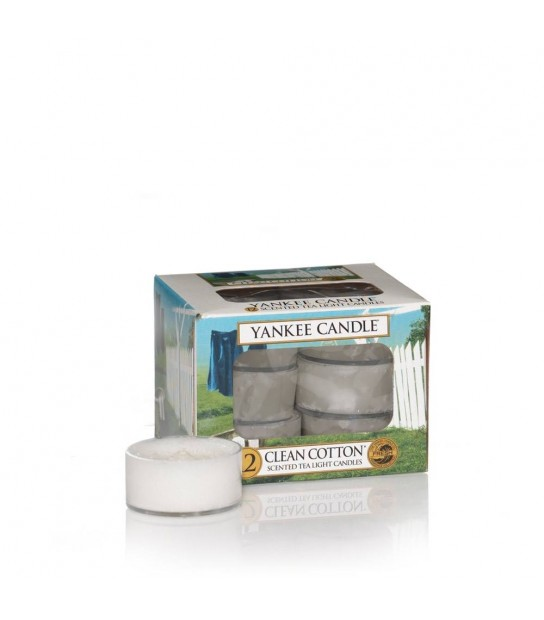 Scented Tea Light (12) profumati Clean Cotton