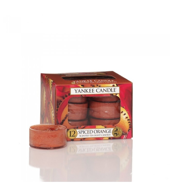 Yankee Candle KITCHEN SPICE Box of 12 Scented Tealights Tea Light Red Brown Food