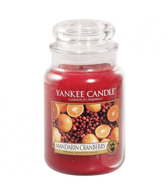 Mandarin Cranberry Large Jar Yankee Candle