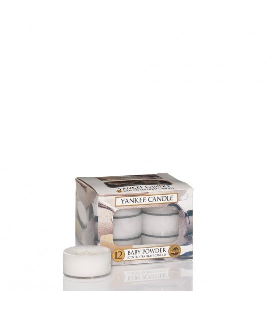 Scented Tea Light (12) Baby Powder