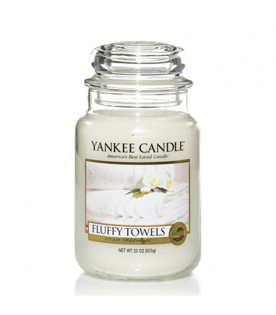 Large Jar Yankee Candle Fluffy Towel