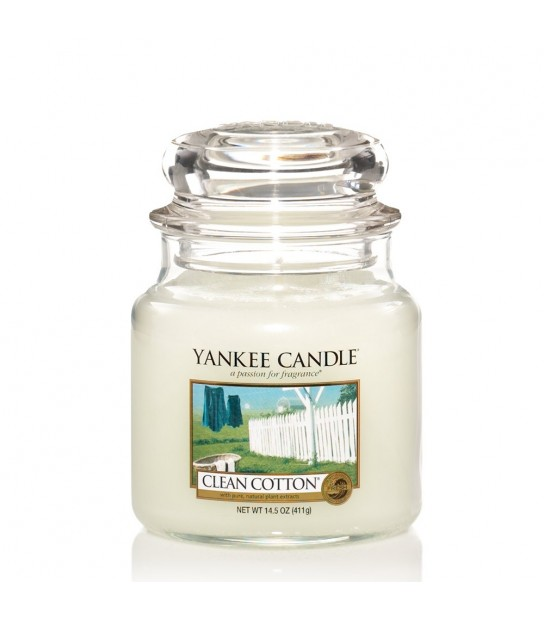 Medium Jar Yankee Candle Clean Cotton