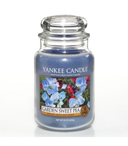 Large Jar Yankee Candle Garden Sweet Pea