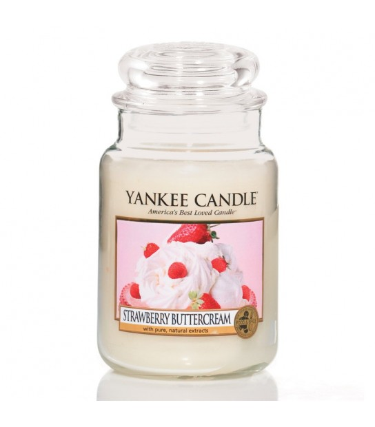 Large Jar Strawberry Buttercream by Yankee Candle