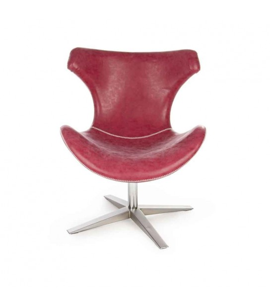 Gildas Red Armchair