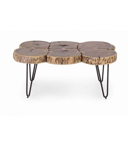 Edgar log coffee table 90x60