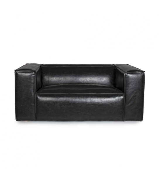 Dakota black sofa 2/3 seats