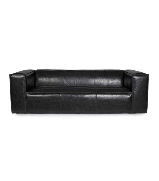 Dakota black sofa 3/4 seats