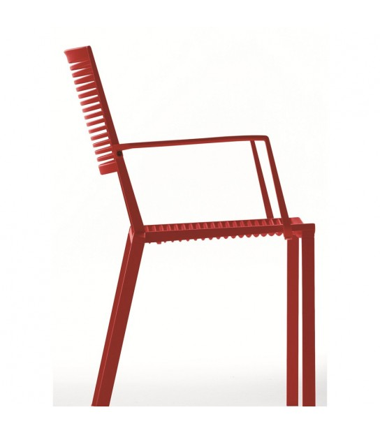 Easy Chair W/Arms Aluminium Made In Italy