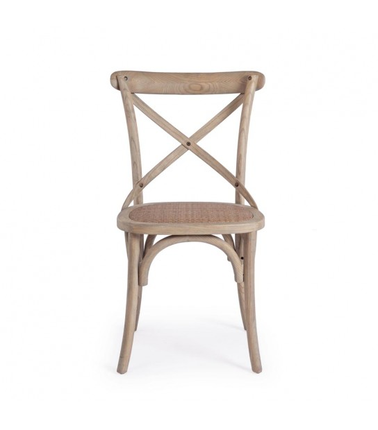 Cross chair in Elm wood