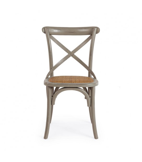 Dark Grey Cross chair in Elm wood
