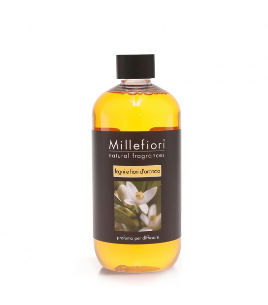 Wood and Orange flowers 500 ml refill