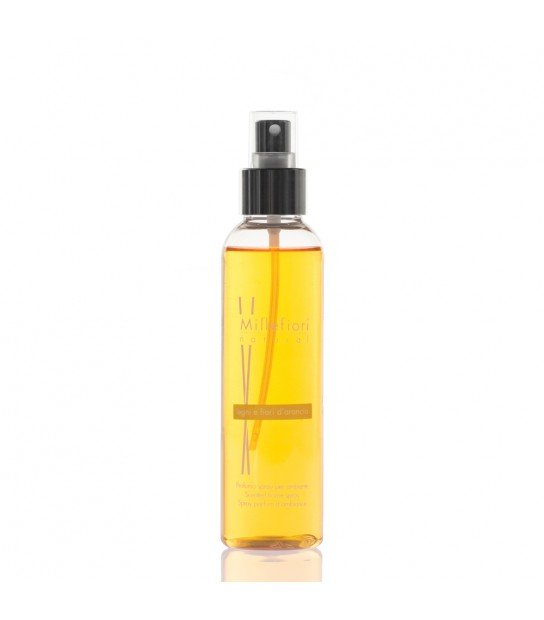 Wood and Orange flowers Scented Home Spray
