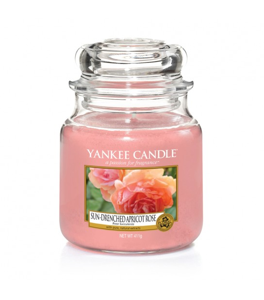 Sun Drenched Apricot rose Medium Jar Yankee Candle