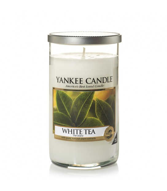 White tea Medium Pillar Yankee Candle