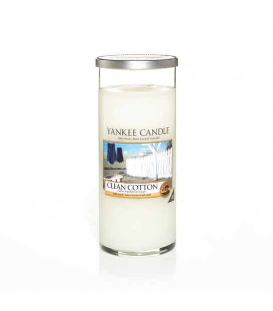 Large Decor Pillar Candle Clean Cotton