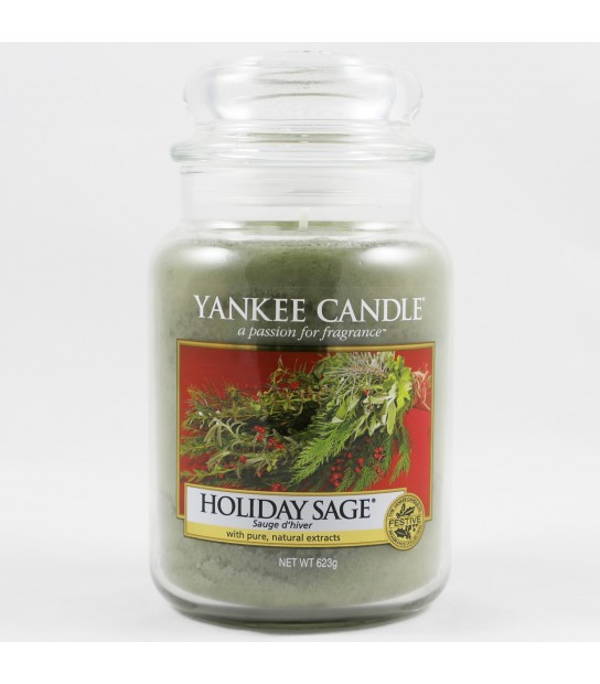 Holiday Sage Large Candle