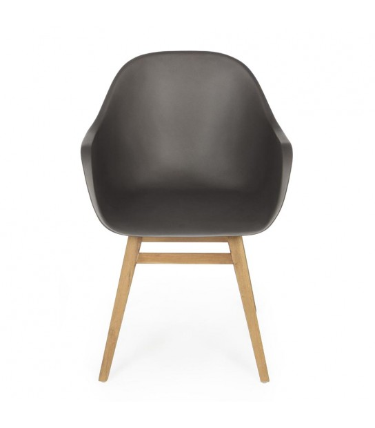 Tiara Charcoal Matt Armchair