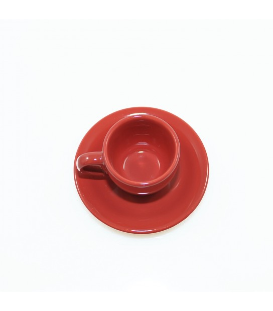 Stoneware Coffee cup with small plate in Marrakesh